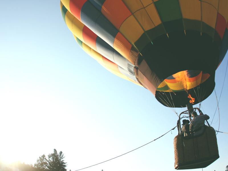 Baptême en montgolfière au Sri Lanka