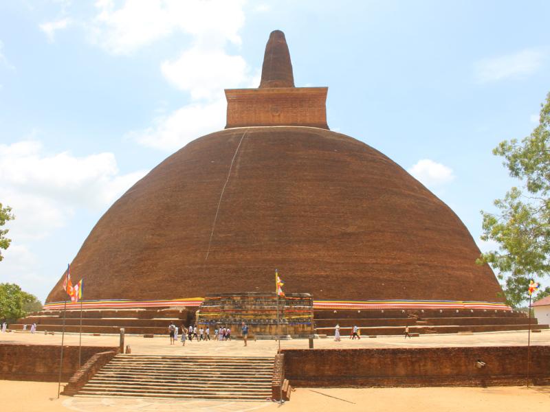 Temple sur le site d'anuradhapura au Sri Lanka
