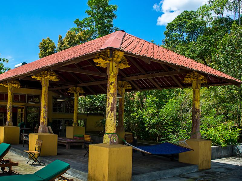 Espace de détente dans un centre ayurvédique au Sri Lanka